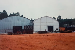 1996 - Increased production capacity hydraulic cardboard.